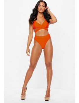 Orange Thong Brief Mix And Match by Missguided