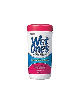 Wet Ones® Antibacterial Hand Wipes, 40 Wipes/Tub by Wet Ones