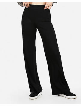 High Waisted Modern Rib Wide Leg Pant by Express