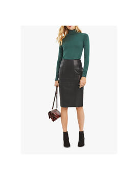 Oasis Leather Pencil Skirt, Black by Oasis