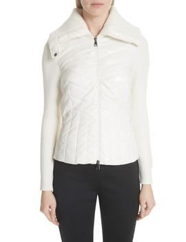Quilted Front Cardigan by Moncler