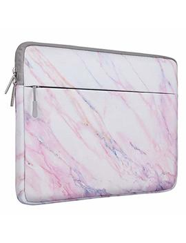 Mosiso Laptop Sleeve Bag Compatible 13 13.3 Inch Mac Book Pro, Mac Book Air, Notebook Computer, Protective Chromebook Tablet Carrying Case Cover, Pink Marble Pattern by Mosiso