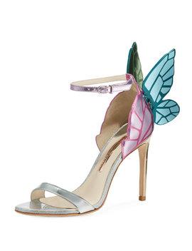 Chiara Butterfly Wing Multi Metallic Leather Sandals by Sophia Webster