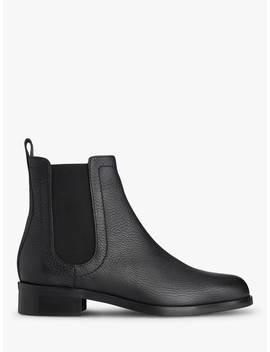 L.K.Bennett Blair Block Heel Chelsea Ankle Boots, Black Leather by L.K.Bennett
