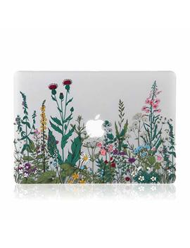 I Donzon Mac Book Air 13 Inch Case, 3 D Effect Matte Clear See Through Hard Case Cover Only Compatible Mac Book Air 13 Inch (Model: A1369 & A1466)   Garden Flowers by I Donzon