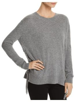 Lace Up Cashmere Sweater   100 Percents Exclusive by C By Bloomingdale's