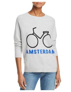 Amsterdam Bike Cashmere Sweater   100 Percents Exclusive by Aqua Cashmere