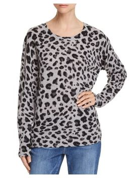 Leopard Print Cashmere Sweater   100 Percents Exclusive by C By Bloomingdale's