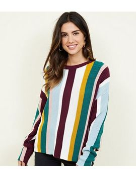 Multicoloured Vertical Stripe Jumper by New Look