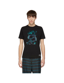 Black Limited Edition Holiday Dragon T Shirt by Kenzo