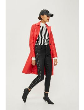 Premium Leather Side Lace Up Trousers by Topshop