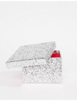 Paperchase Christmas Small Glitter Box Decoration by Paperchase
