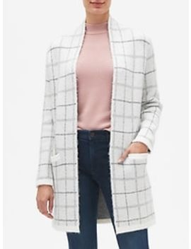 Plaid Open Front Cardigan by Banana Republic Factory