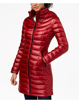 Hooded Packable Puffer Coat by Calvin Klein