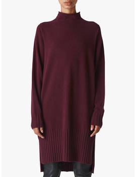 Whistles Dolman Cashmere Dress, Burgundy by Whistles