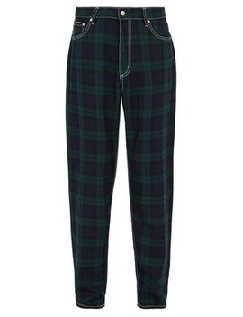 Wide Leg Tartan Jeans by Matches Fashion