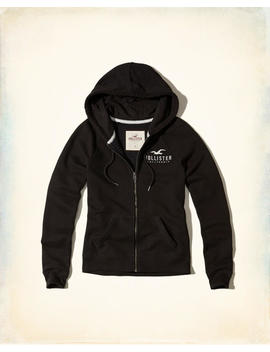 Graphic Full Zip Hoodie by Hollister
