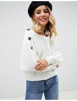 Asos Design – Pullover Mit Ziernaht Und Knopfdetail by Asos
