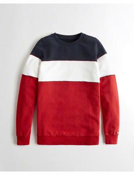 Colorblock Crewneck Sweatshirt by Hollister