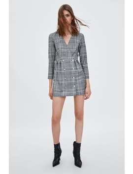 Double Breasted Plaid Dress by Zara