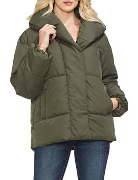 Matte Quilted Puffer Jacket by Vince Camuto