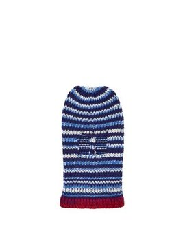 Striped Wool Knit Balaclava Hat by Matches Fashion