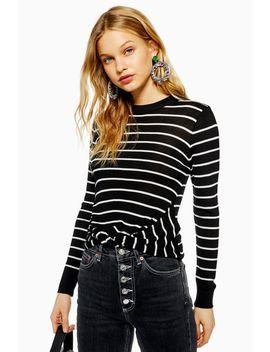 Stripe Twist Hem Top by Topshop
