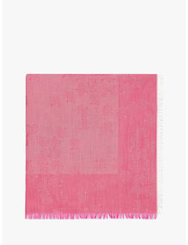 Mulberry Tamara Square Cotton Scarf, Raspberry by Mulberry