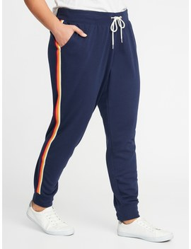Retro Stripe French Terry Plus Size Joggers by Old Navy