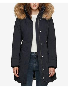 Hooded Fur Trim Coat by Soia & Kyo