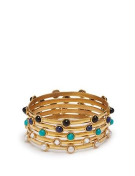 Stone Embellished Bangle Set by Matches Fashion