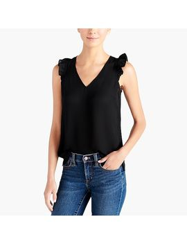 Sleeveless Ruffle Top by J.Crew