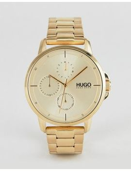 Hugo 1530026 Focus Bracelet Strap Watch In Gold by Hugo