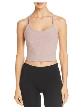 Space Dye Racerback Cropped Top by Beyond Yoga