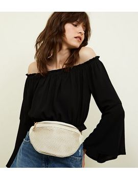White Mesh Bum Bag by New Look