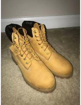 Men's Timberland 6 Inch Premium Waterproof 10061 Wheat Boots Us Size 10 by Timberland