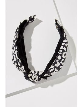 Fringed Leopard Print Headband by Anthropologie