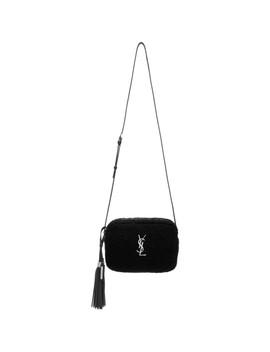 Black Lou Shearling Camera Bag by Saint Laurent