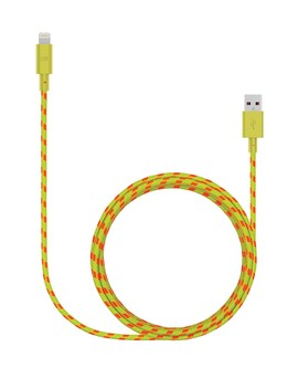 7 Ft. Yellow Yacht Braided Lightning Cable by Candywirez