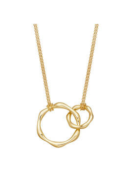 Missoma Double Hoop Magma Pendant Necklace, Gold by Missoma