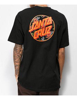 Santa Cruz Vacation Dot Black T Shirt by Santa Cruz Skate