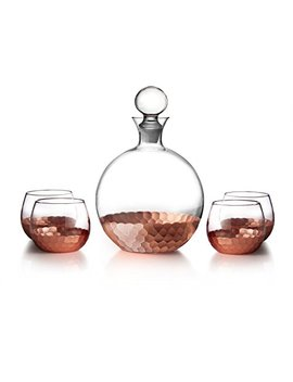 Fitz And Floyd Daphne 5 Piece Decanter Set, Copper by Fitz And Floyd