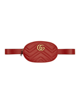 Red Gg Marmont 2.0 Belt Bag by Gucci
