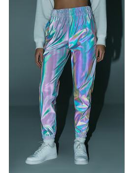 Reflective Iridescent Joggers by Forever 21