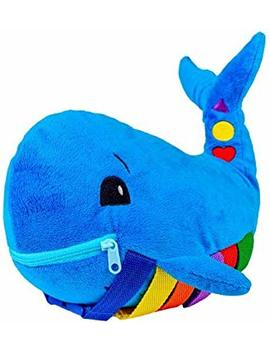 """Buckle Toy """"Blu"""" Whale   Toddler Early Learning Basic Life Skills Children's Plush Travel Activity by Buckle Toys"""