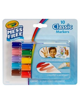 Crayola® Color Wonder Markers, Mess Free   10 Classic Colors by Crayola