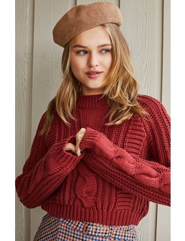 Lottie Moss Nixie Cable Knit Sweater by Pacsun