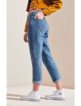 Pac Sun Side Stripe Mom Jeans by Pacsun