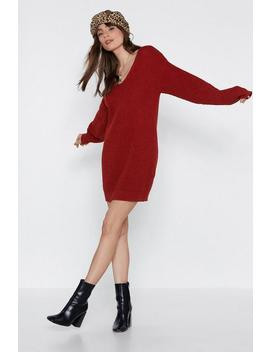 I Want Knit That Way Sweater Dress by Nasty Gal