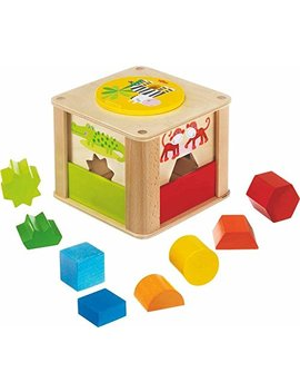 Haba Zookeeper Wooden Shape Sorting Box A Twist   Explore Whole Half Shapes   12 Months + by Haba